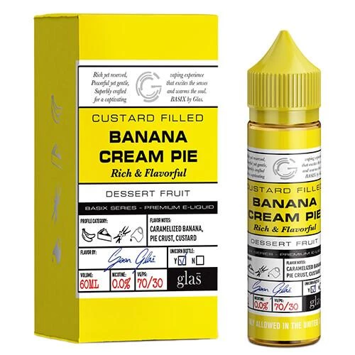 Banana Cream Pie Basix by Glas E-Liquid